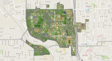 A small map of Georgia Tech buildings in Atlanta, GA
